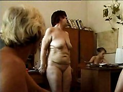 Office, Nudist, Girle punish girle with strapon in office, Xhamster.com
