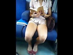 Teen, Train, Jap on train, Xhamster.com