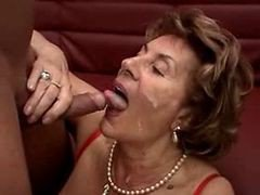Granny, Blond granny hairy creampie doggystyle, Xhamster.com