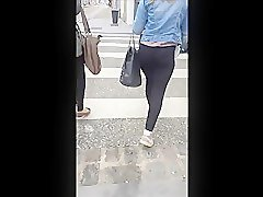 Ass, Handjob on the street, Voyeurhit.com