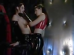 Latex, Lesbian, Slave, Femdom worshipping latex domina, Txxx.com