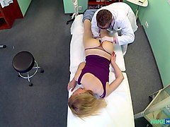 Doctor, Russian, Lady doctor examine, Txxx.com