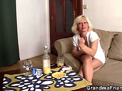 Blonde, Busty blonde mature in stockings fucks and, Gotporn.com