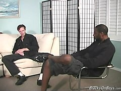 Black, Gangbang, Ass, Chick gets assfucked by black guys while cuckold, Txxx.com