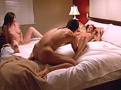 Couple, Threesome, Two shemales and guy, Sunporno.com