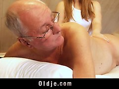 Blonde, Ass, Old Man, Shemale cumming in female mouth, Nuvid.com