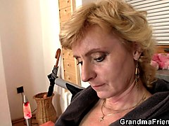 Blonde, Threesome, French granny hairy, Gotporn.com