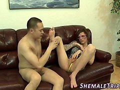 Cum on shemale feet, Gotporn.com