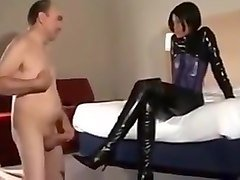 Amateur, Latex, Femdom, Amateur latex strapon, Txxx.com