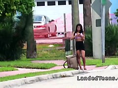 Bus, Latina, Public, Busty latina home video, Hdzog.com