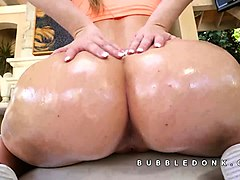 Oil, Ass, Three oiled asses anal, Nuvid.com