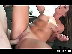 Bus, Teen, Brunette with tattoo rubs cum all over tits, Nuvid.com