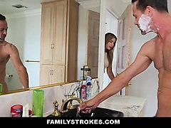 Shower, Mom fucks son while dad not home, Nuvid.com