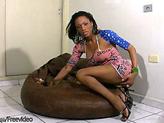 Ebony, Babe, Masturbation, Big ass ebony facesit, Sunporno.com
