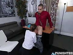 Office, Babe, Young babe nipples sucked and fingered, Sunporno.com