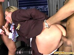 Anal, Club, Stewardess, Shemale with girl, Gotporn.com