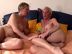 Granny, Foursome, German, Grannies masturbation, Gotporn.com