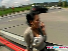 Bus, Public, Money, Wife fucking for money and husband watching, Mylust.com