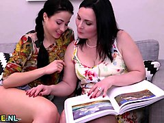 Lesbian, Old And Young, Old and young teen oral, Sunporno.com