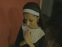 Indian, Nun, Swallow, Self fist, Xhamster.com