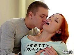 Redhead, Nasty mom in heat gets a free gift cream pies, Sunporno.com